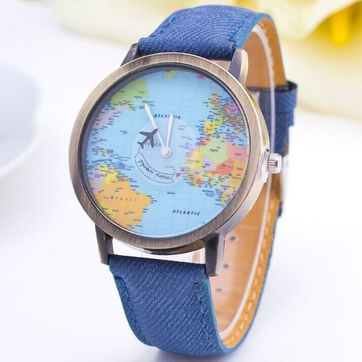 Cheap watch green buy quality watch operations directly from china world map airplane pattern watch women wristwatch 2015 new fashion casual quartz watch fabric leather femenino clock relojeschina mainland gumiabroncs Images