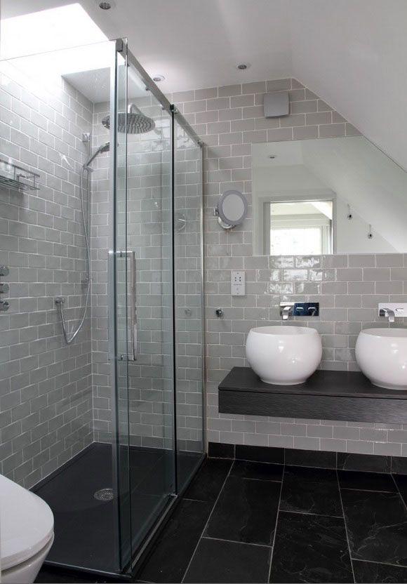 bathroom tiles dark floor light walls