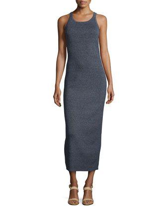 Sleeveless Ribbed Tank Dress, Indigo by Michael Kors at Neiman Marcus.