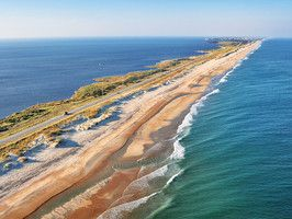 The nation's first National Seashore, Cape Hatteras' constantly shifting sands support an abundance of wildlife and nesting birds.