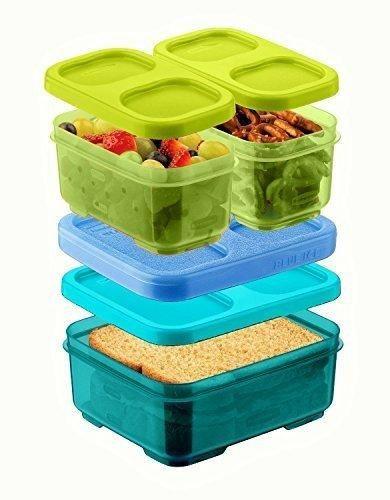 Rubbermaid LunchBlox Kids Tall Lunch Box Kit GreenBlue