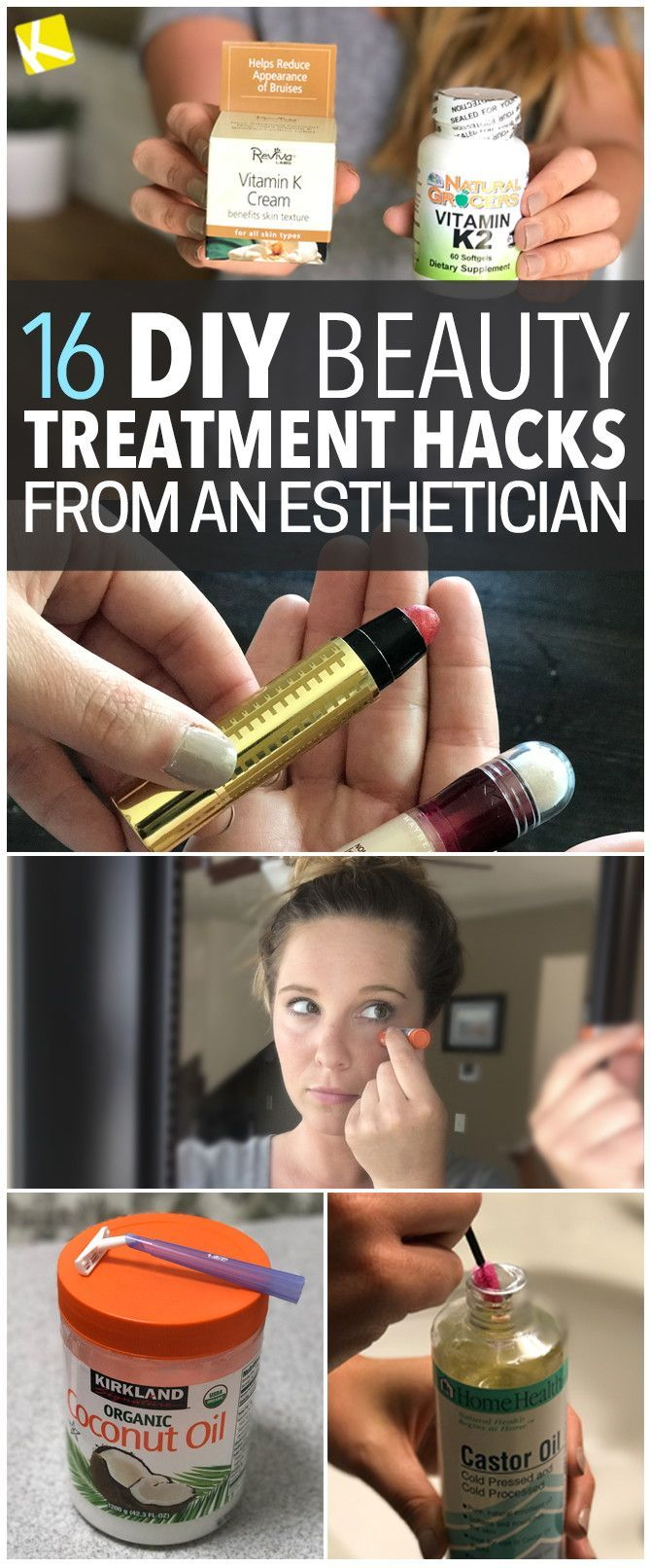 15 DIY Beauty Treatment Hacks from an Esthetician #beautytips