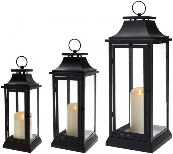 Qvc Luminara Wickless Candle Lanterns One Day Sale How Does She Outdoor Lanterns Candle Lanterns Luminara Lantern