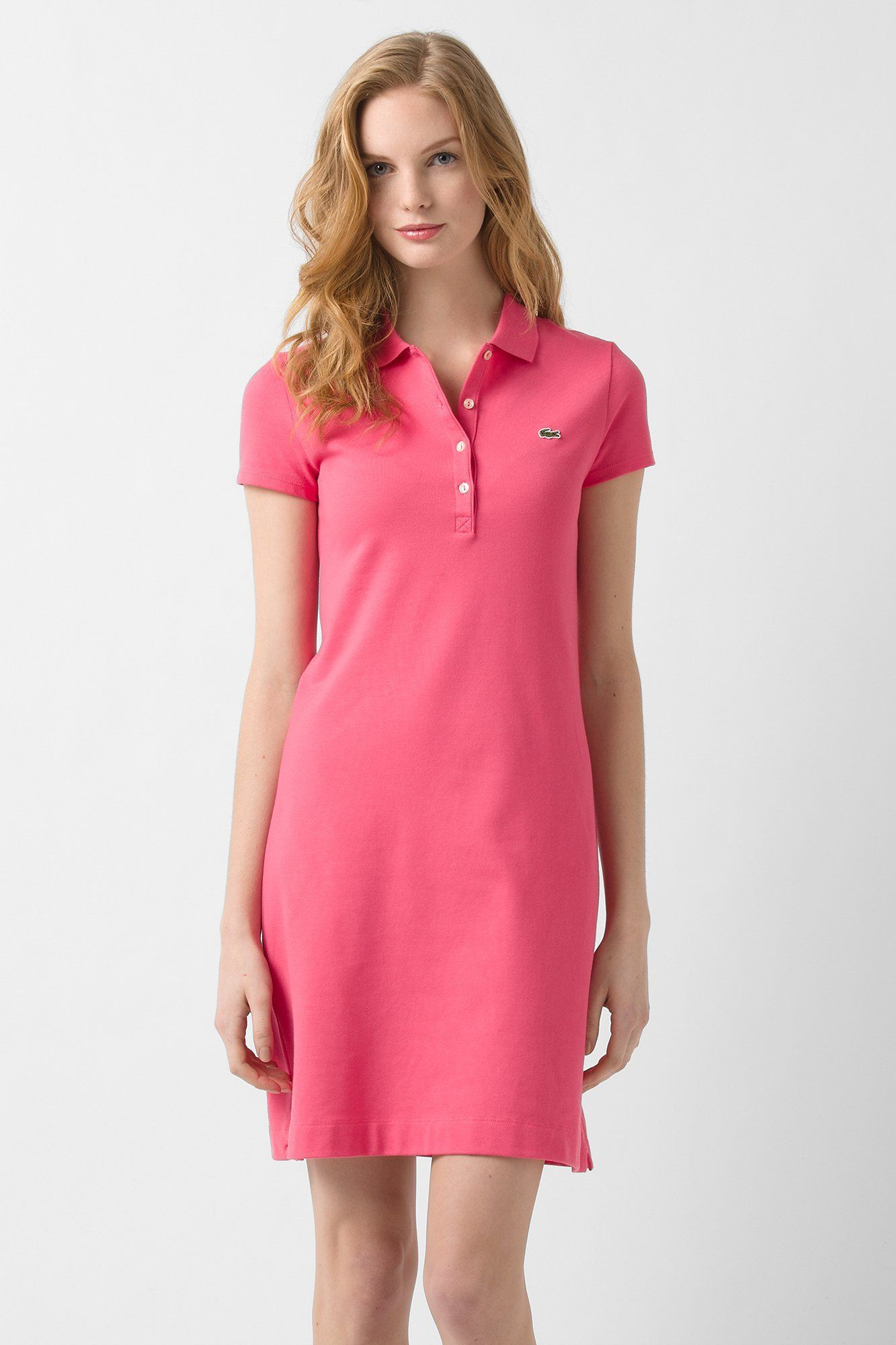Lacoste short sleeve stretch pique classic polo dress