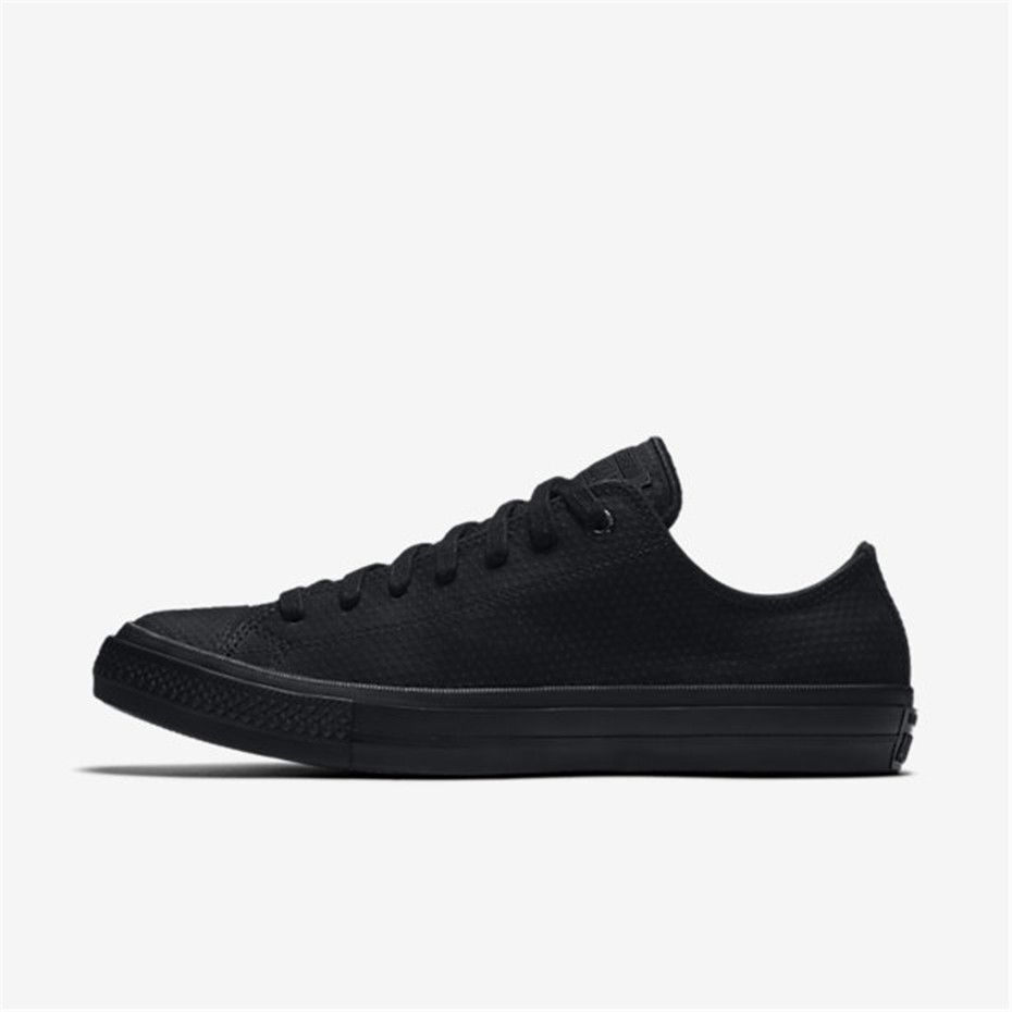 508eb39d0ccb61 NIKE Converse Chuck II Lux Leather Low Top (Black   Black). Find this Pin  and more on Nike Lifestyle Shoes Cheap ...