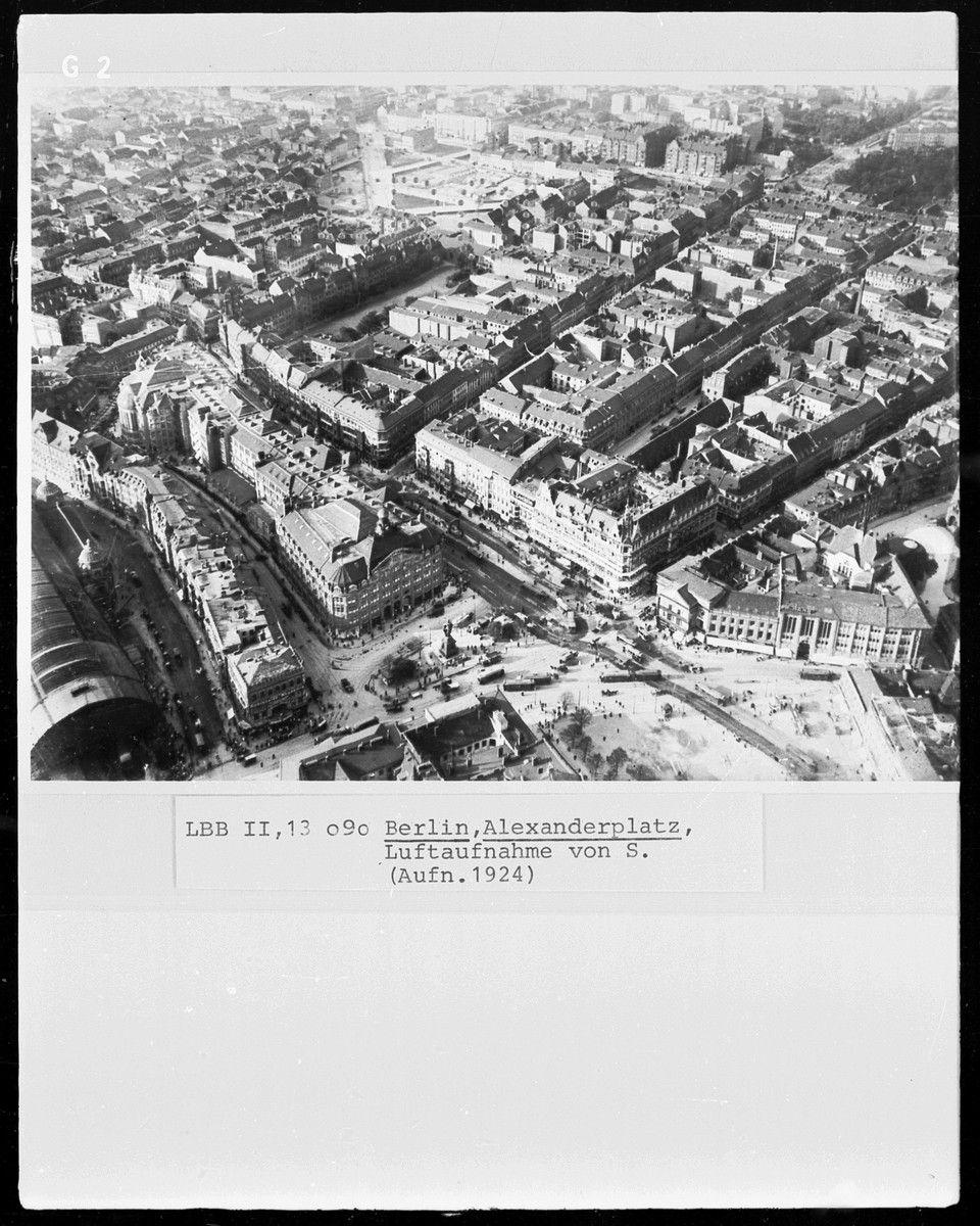 Berlin Alexanderplatz Luftaufnahme 1924 Avec Images