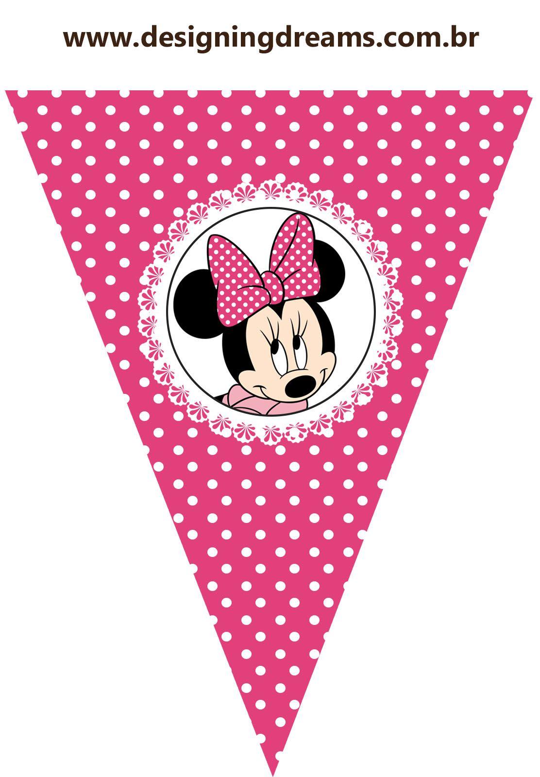 Kit Festa Pronta Minnie Rosa Gratis Para Baixar