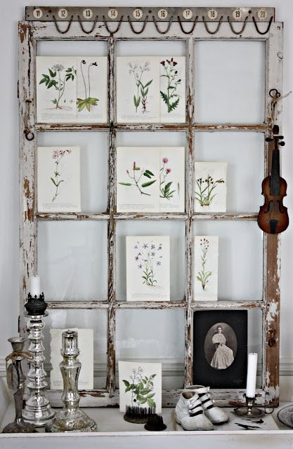 Love old window frames repurposed - such MYRIAD uses!! {And we have ...