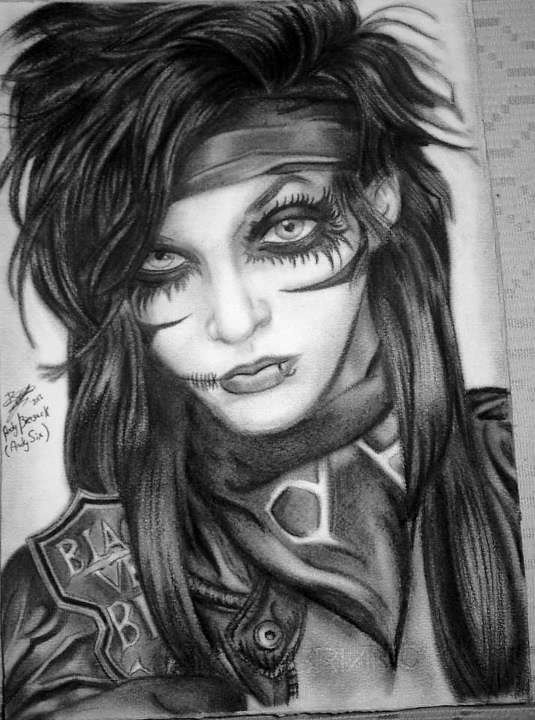 Andy Biersack Black And White Portraits Black Veil Brides Portrait