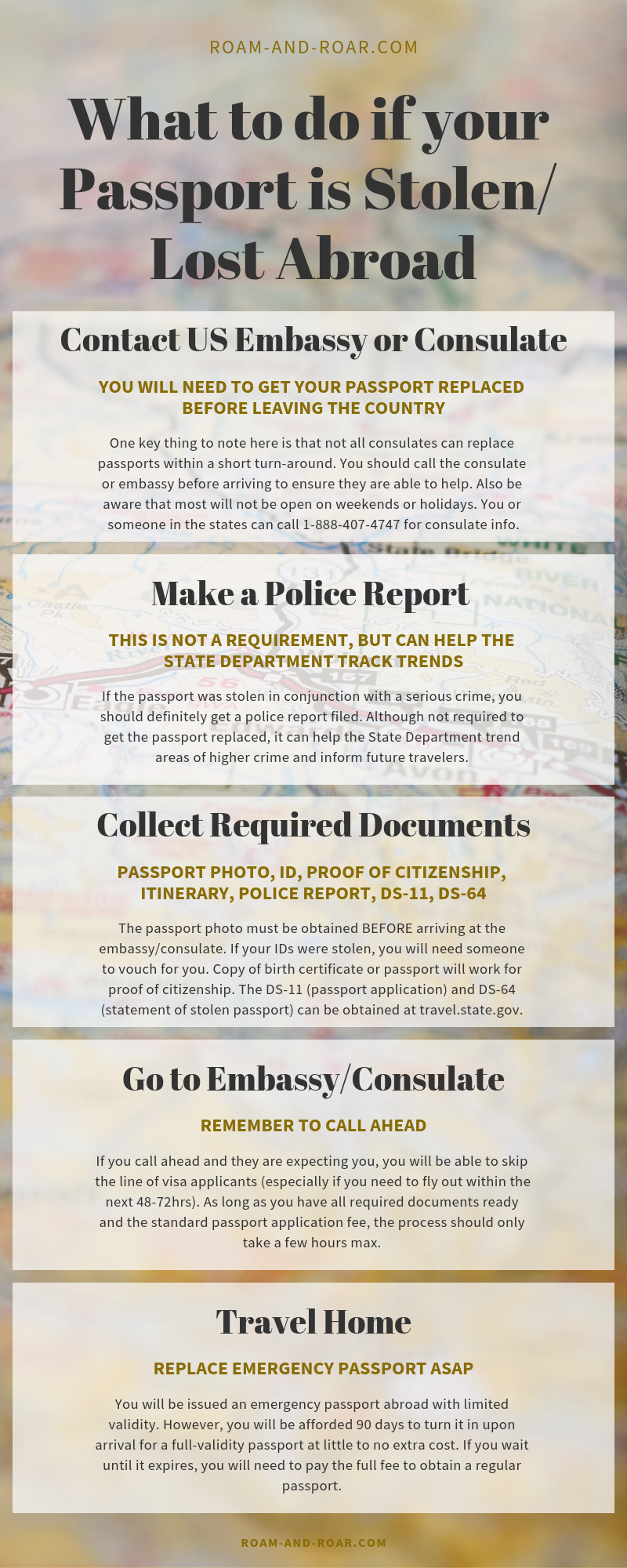 What To Do If Your Passport Is Lost Or Stolen Abroad L Roam Roar Lost Passport Emergency Passport Getting A Passport