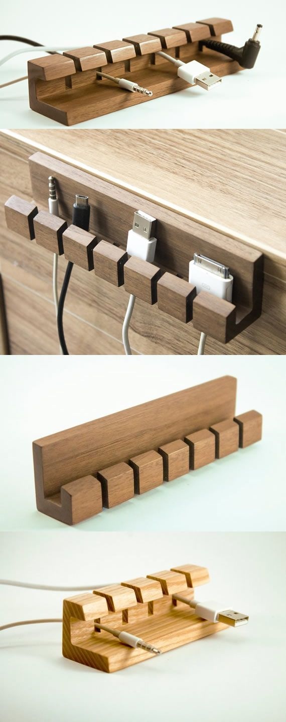 Wooden Cable Desk Management System Holder Cable Cord Charger Organizer Charging Cab Usb Charging Station Cell Phone Charging Station Phone Charging Station