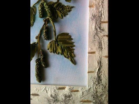 Березы вышивка лентами
