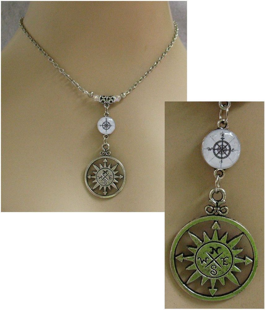 Silver Rose Compass Nautical Pendant Necklace Jewelry Handmade NEW Accessories  #Handmade #Chain http://www.ebay.com/itm/Silver-Rose-Compass-Nautical-Pendant-Necklace-Jewelry-Handmade-Adjustable-Alloy-/151485698215?