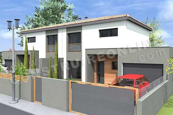 construire maison jumelée sur un terrain - Recherche Google maison - plan de maison sur terrain en pente