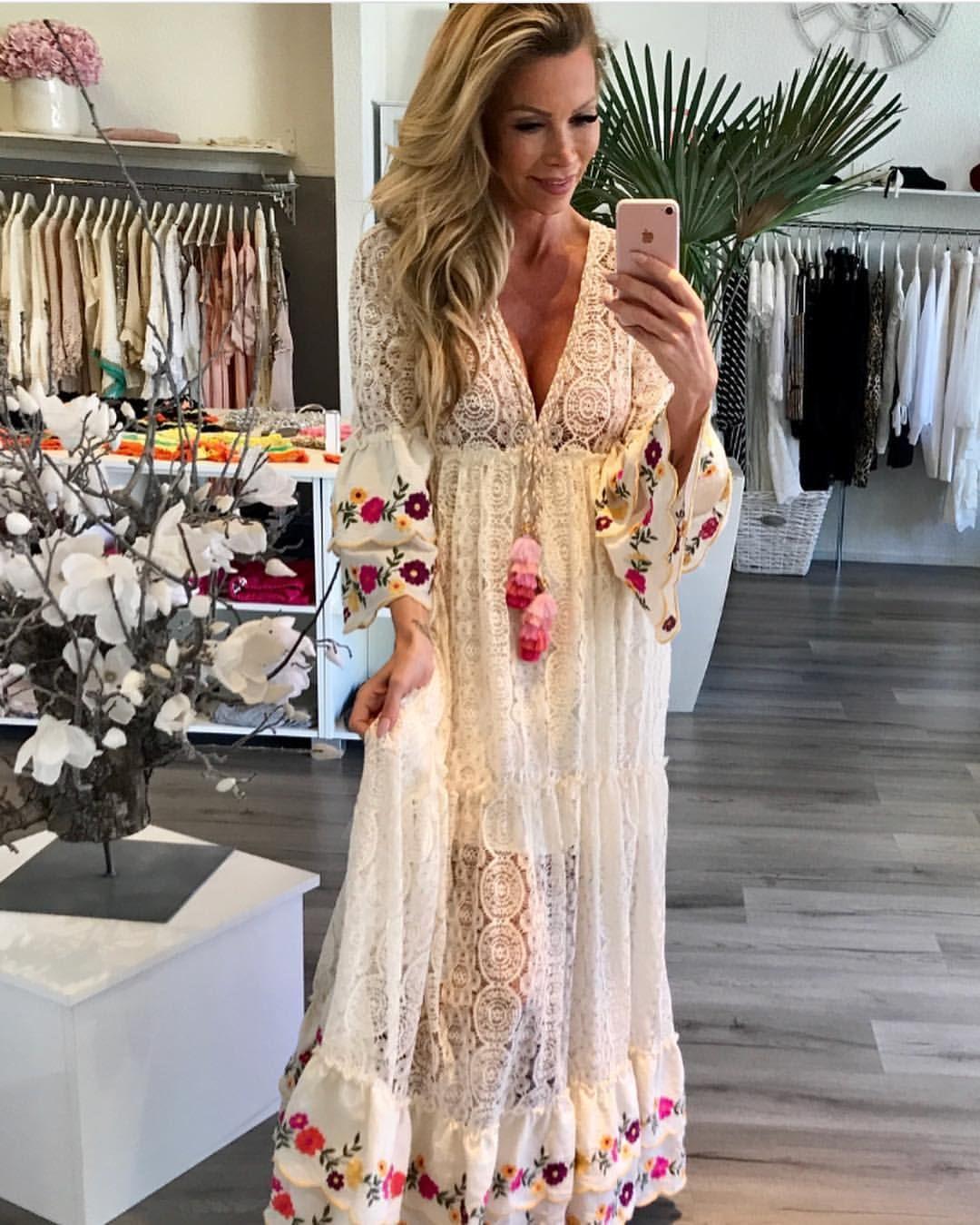 458a9d7bb025b #look #trendy #inspiration #dress #maxi #flowers #ibiza #maxidress #love  #bohochic #style #boho #cute #pretty #chic #bohemian #photo…
