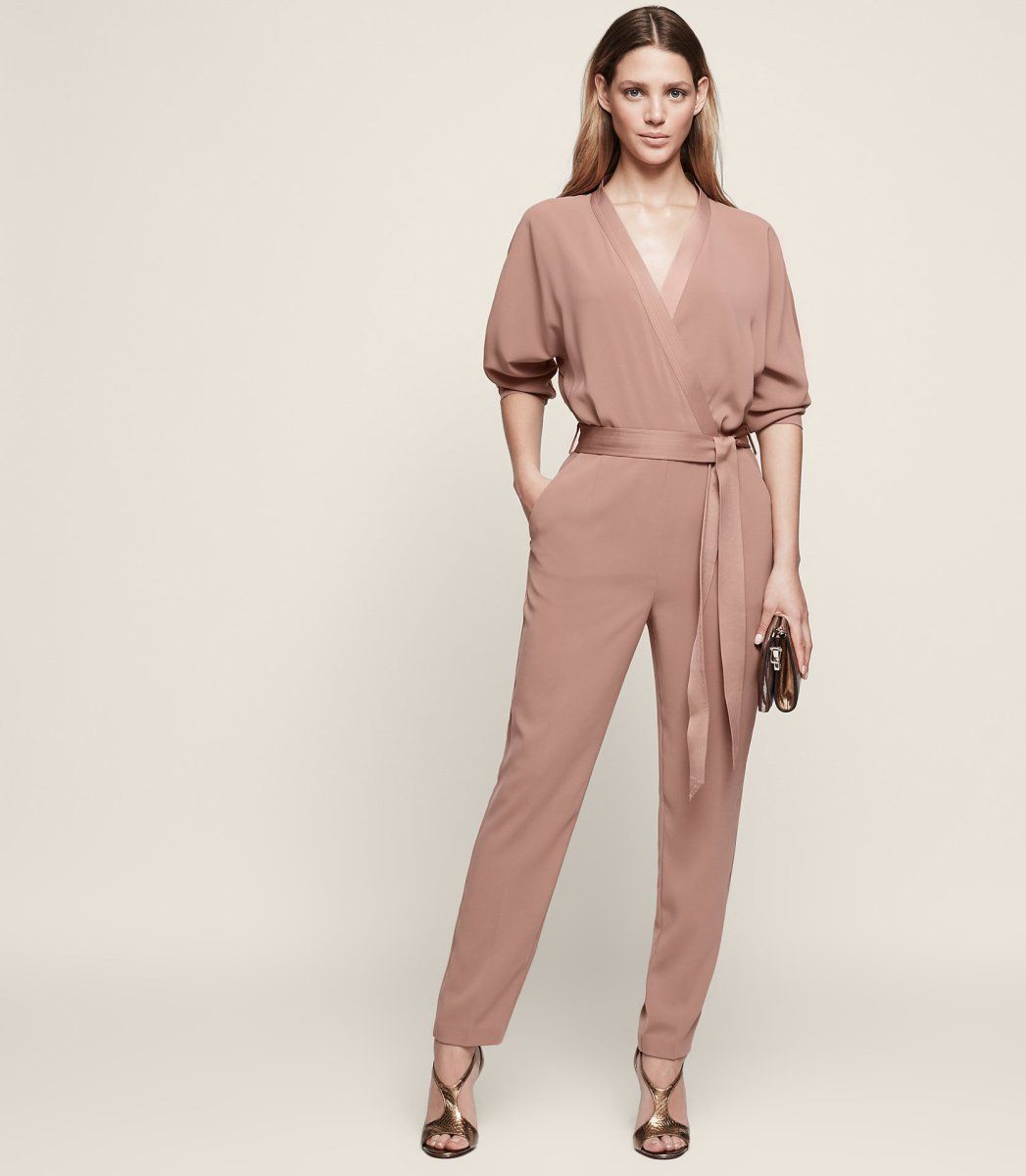 c6337a6277 Etta wrap-front jumpsuit with pockets from Reiss.  wewantpockets   pocketsrock www.