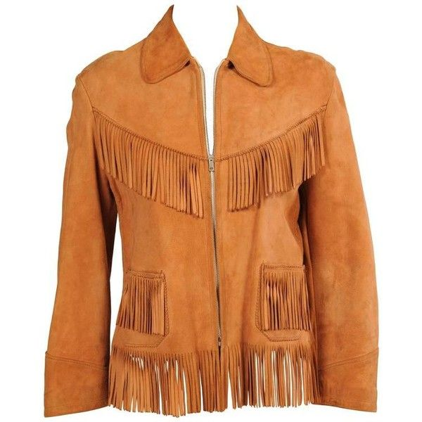Preowned K Bar Z Fringed Suede Jacket ($495) ❤ liked on Polyvore featuring outerwear, jackets, orange, suede fringe jacket, suede western jacket, fringe jacket, red fringe jacket and red jacket