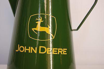 John Deere Green Enamel Coffee Pot Kettle Kitchen Collectible