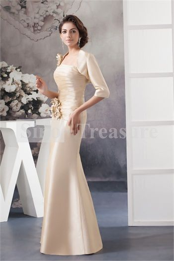 Long Champagne Mother of the Bride Dresses with Color Jackets