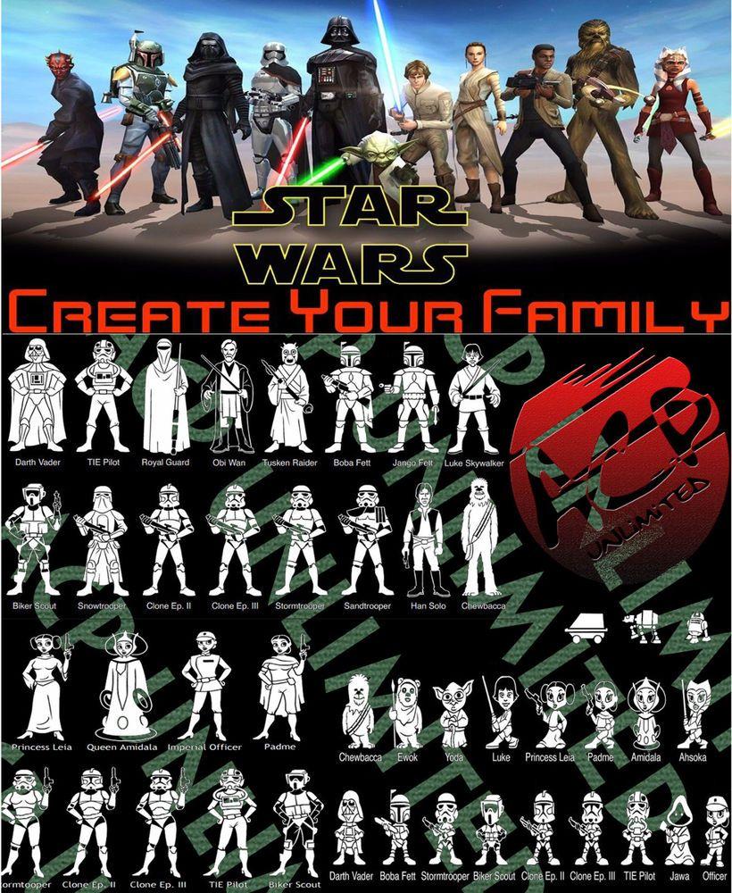 Star Wars Stick Figure Family Member Vinyl Decal Sticker Car Window Laptop Wall Stick Figure Family Family Car Stickers Stick Figures [ 1000 x 820 Pixel ]