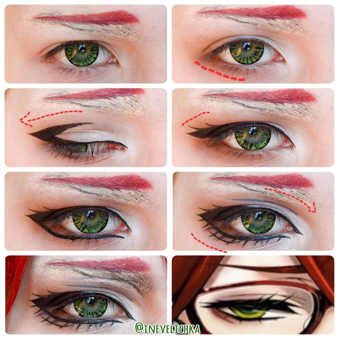 Grell makeup tutorial! I'd prolly put on falsies as well