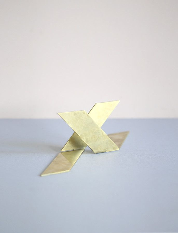 Martino Gamper Brass Bookends. perfection.