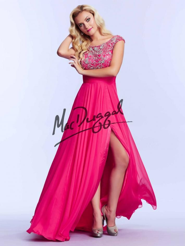 Bright Pink Prom Dress | Vintage Inspired Gown | Mac Duggal 10008M ...
