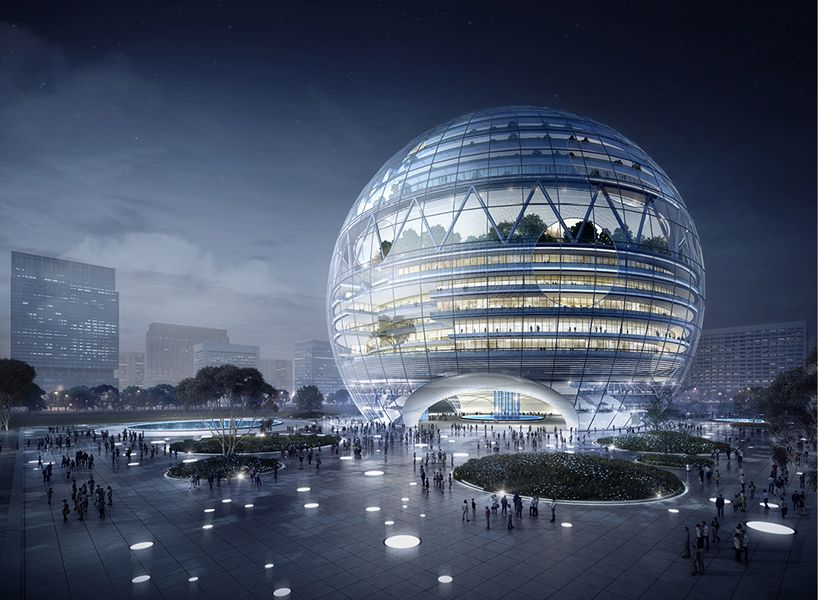 YEAH Architects Designs A Sustainable Super Building With A Dome Shaped  Shopping Mall | Netfloor USA