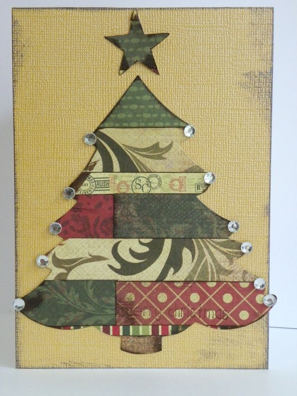 How To Make Decorative Christmas Tree Cards Instructions For Craft