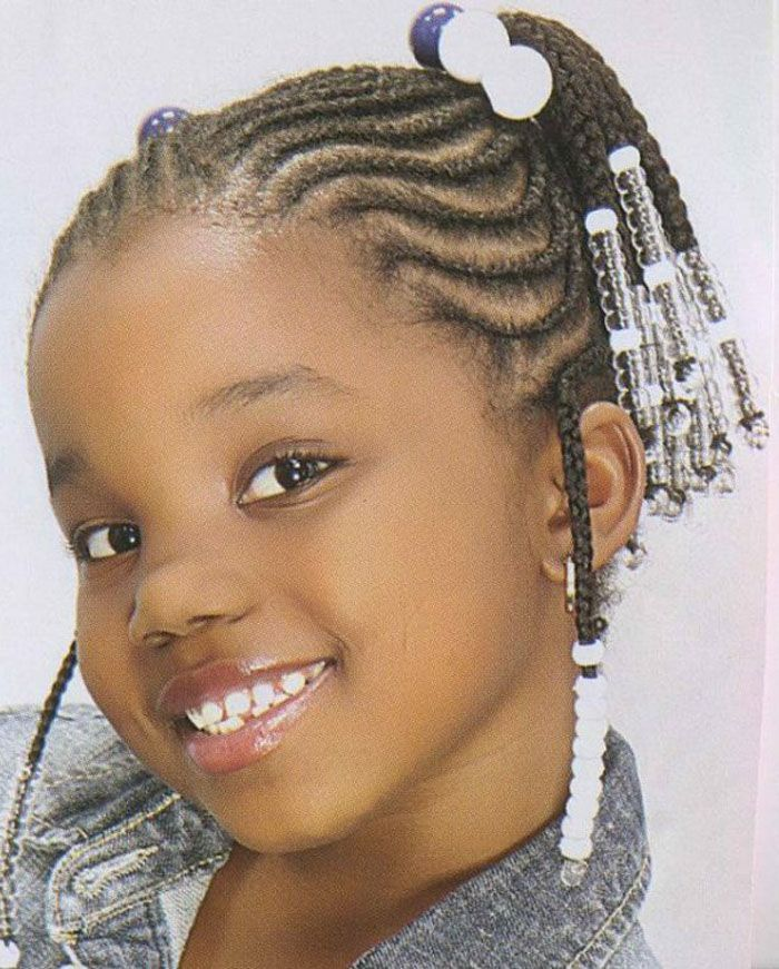 Braided Hairstyles For Little Black Girls With Short Hair Black
