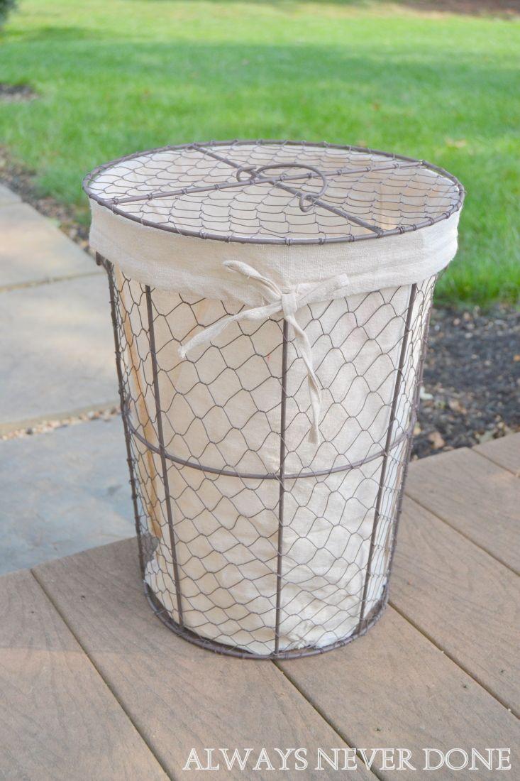 Chicken Wire Basket Turned Pendant Light Fixture   DIY   Pinterest ...
