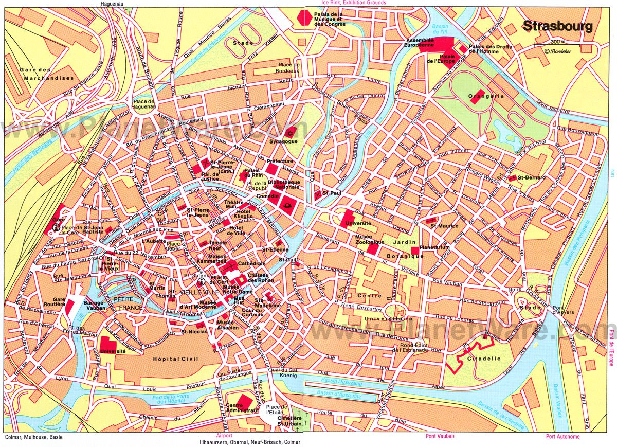 Strasbourg Map Attractions Places Ive Been Pinterest - Germany map for tourist