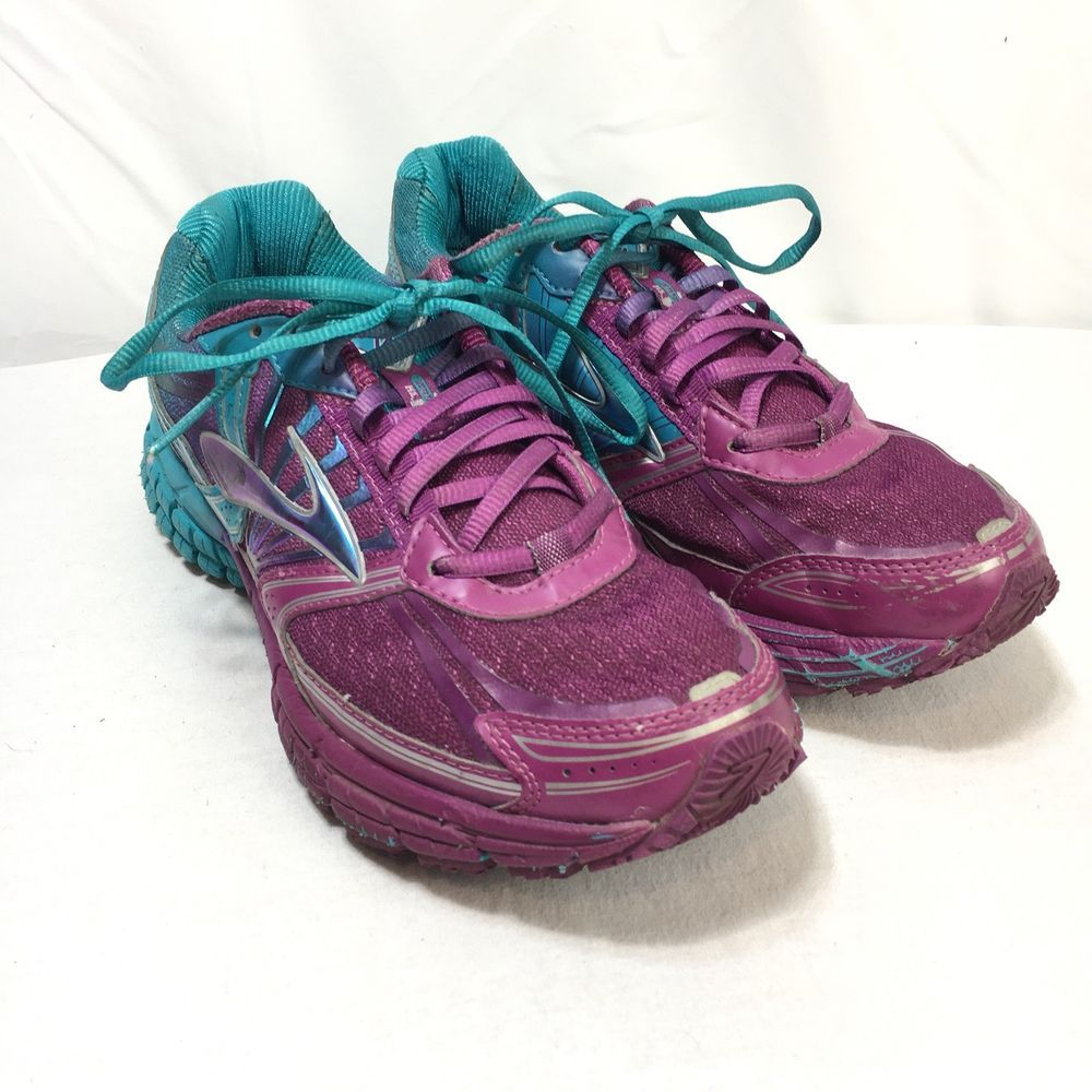 054a12803ab Brooks Adrenaline GTS 14 Womens 9 B Purple Blue Athletic Lace Up Running  Shoes