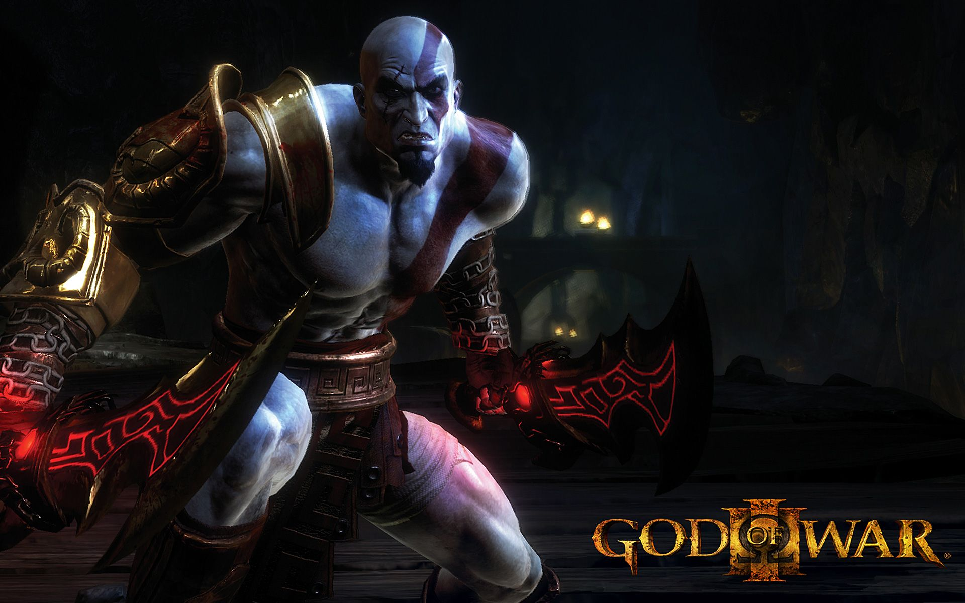 kratos with a sword god of war wallpaper game wallpapers