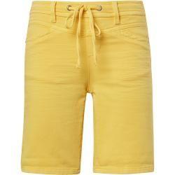 Photo of Tom Tailor Calções cônicos para mulheres, amarelo, cor sólida, tamanho 28 Tom Tailor