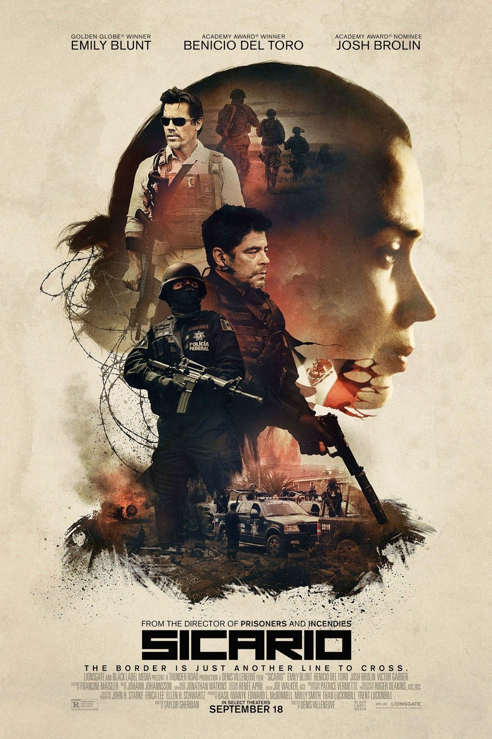 Sicario Extra Large Movie Poster Image Internet Movie Poster Awards Gallery Movies Online Full Movies Online Free Streaming Movies Free