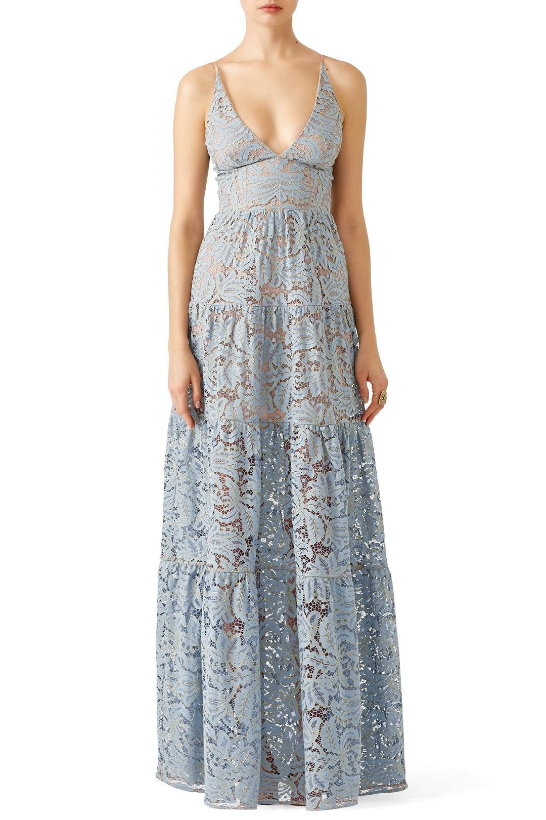 Rent Blue Melina Lace Maxi by Dress The Population for $40