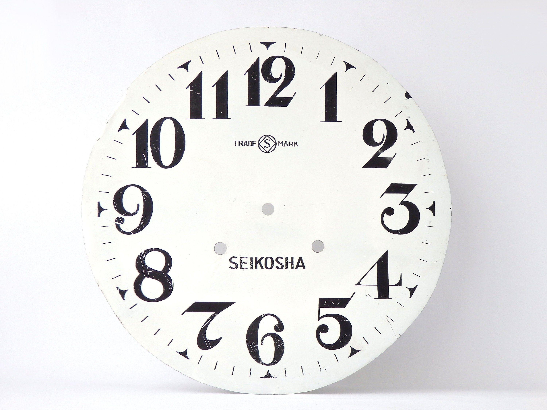 Antique Clock Dial Clocks Parts Seikosha Face 11 3 4 Rustic Home Decor In 2020 Antique Clock Clock Clock Parts