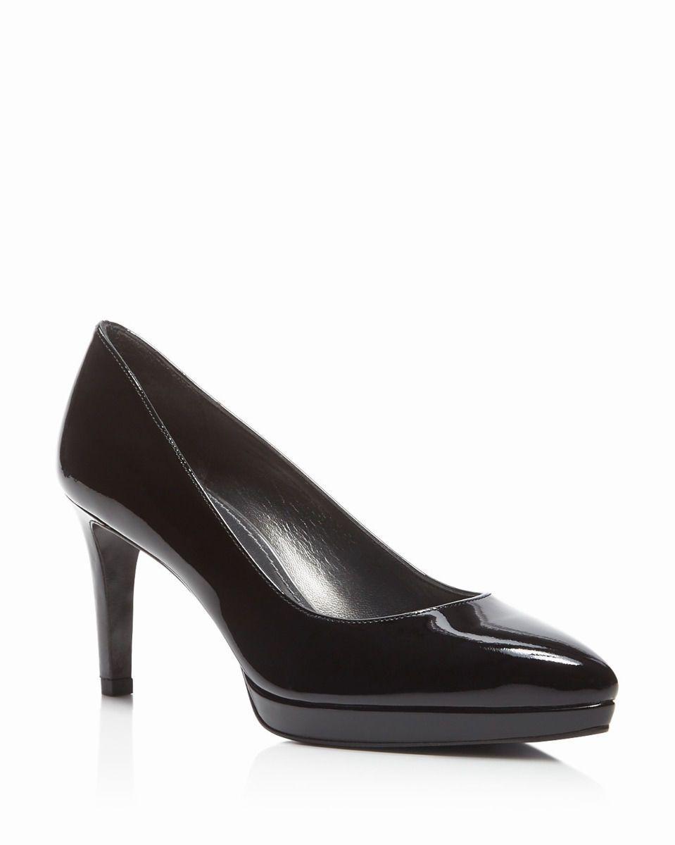 00343abb3d26 Stuart Weitzman Plato Shoes Black Patent Leather Platform Pumps 5 M NIB NEW   398  Platformpumps