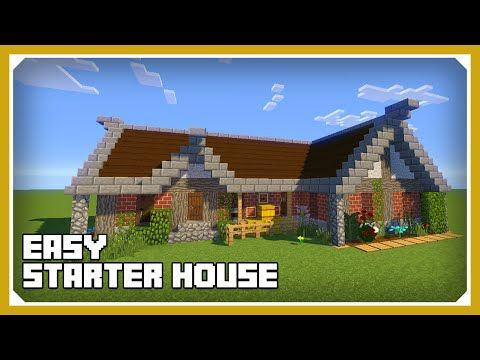 Minecraft: How To Build A Cool Starter House Tutorial (Easy Survival ...
