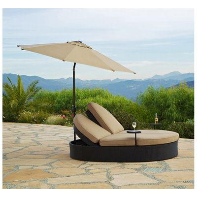 Afd Solara Double Chaise W Umbrella Gf Ld3007 99 Up