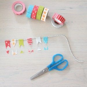 Min-Wimpelkette zum Selberbasteln - #MinWimpelkette #originale #Selberbasteln #zum #fabrictape