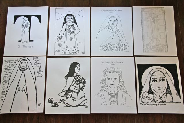 st therese coloring pages