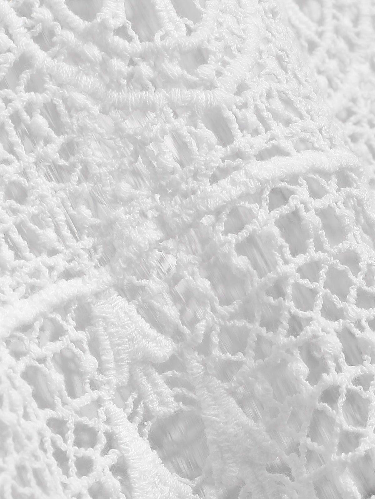 Crochet Hollow Out Tank Top #crochettanktops