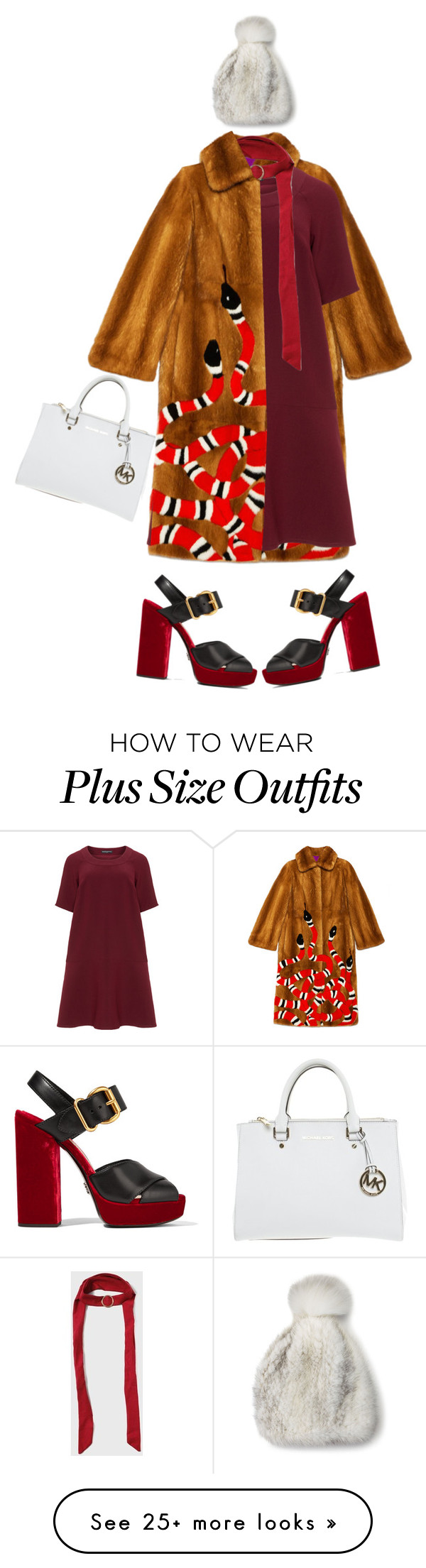 """""""Snakebites"""" by risingsea on Polyvore featuring Gucci, Manon Baptiste, Prada, Dorothy Perkins, Michael Kors and La Fiorentina"""