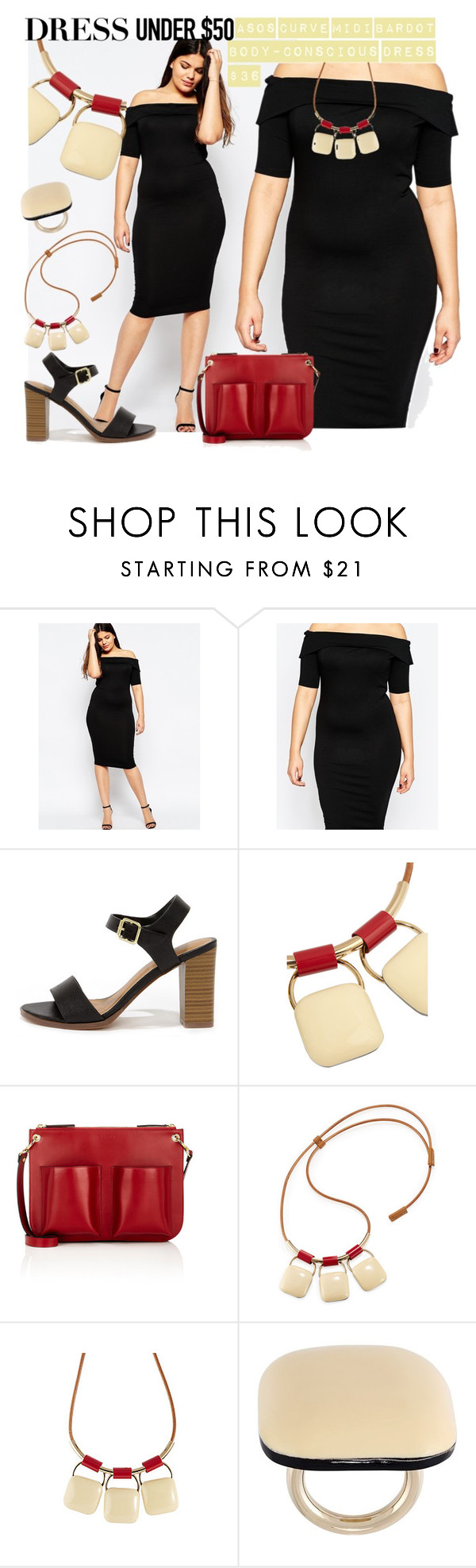 """Plus Size LBD only $36"" by alejandra-soraires on Polyvore featuring ASOS Curve, My Delicious, Marni y Dressunder50"
