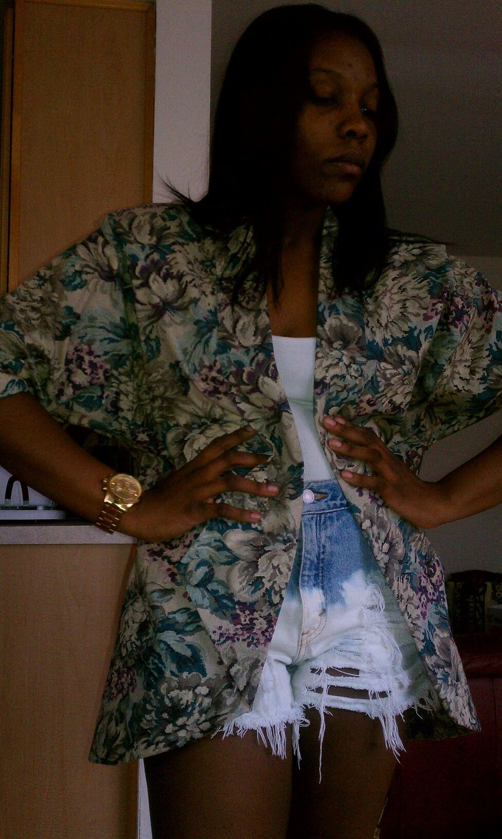 This jacket was picked from a vintage garden!