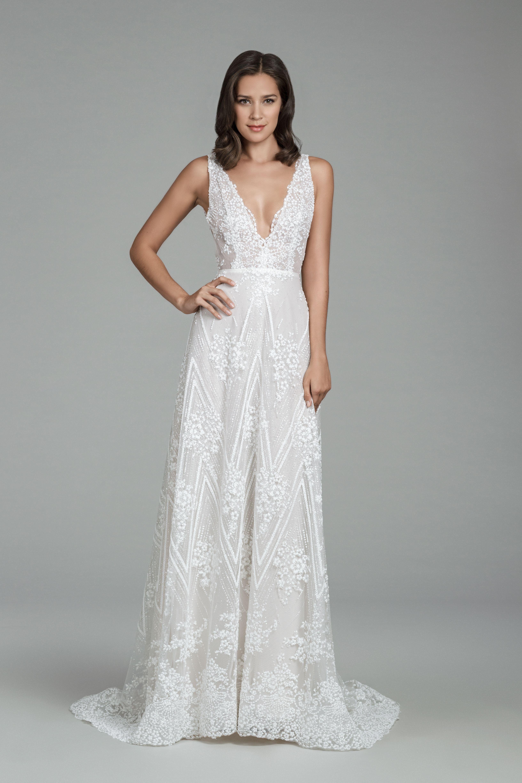 Tara Keely Bridal Gown Style 2810 - Designed by Lazaro. Ivory beaded ...