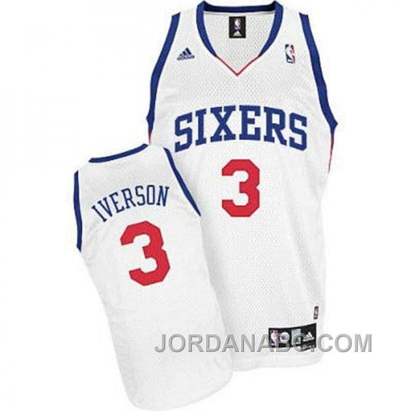 c7ffe8064 Allen Iverson Philadelphia 76ers  3 Revolution 30 Home Jersey For Sale