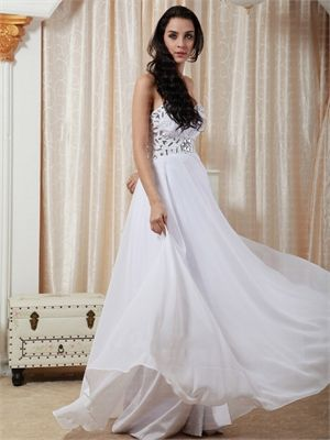 Sweetheart Empire With Rhinestone Low Back Floor Length Chiffon Prom Dress PD2037 www.simpledresses.co.uk £108.0000